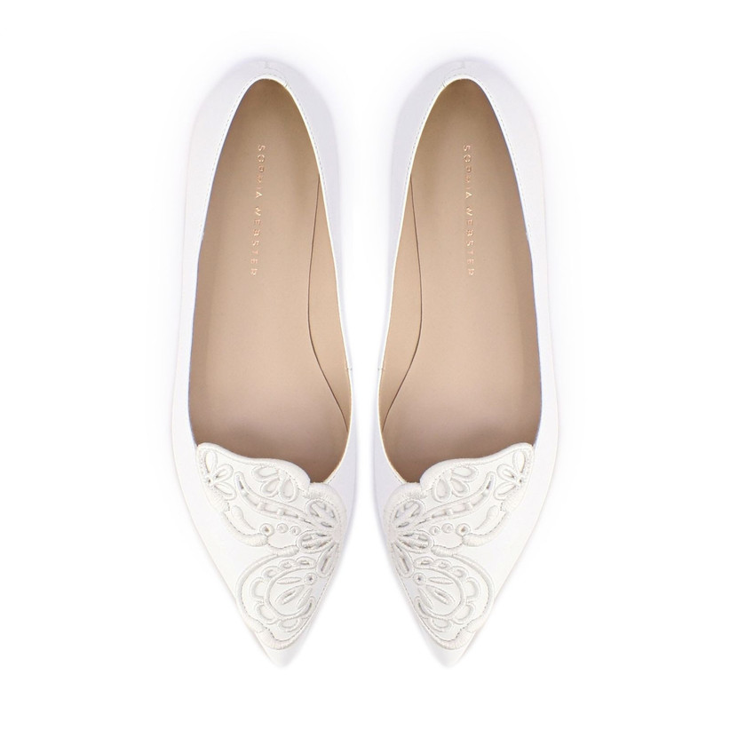 white flat shoes